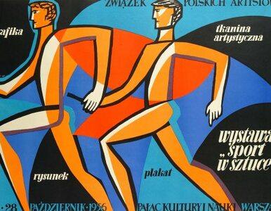 Sportowe plakaty witają przylatujących na Okęcie