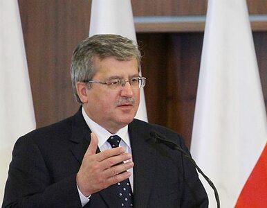 Komorowski: ktoś może powiedzieć, że za Smoleńsk odpowiadają kosmici