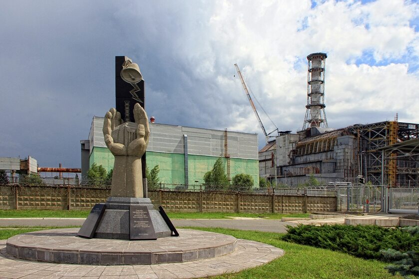 Pomnik ku czci likwidatorów czarnobylskiej elektrowni
