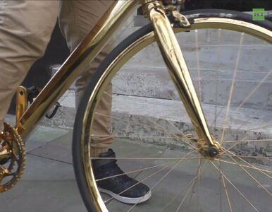 Rower z 24-karatowego złota na ulicach Londynu