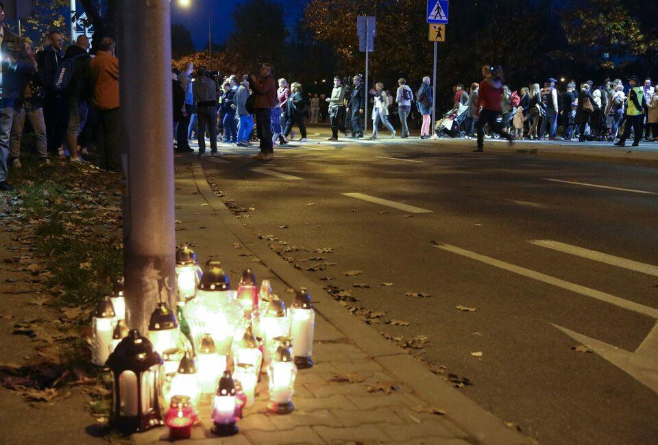 Protest mieszkańców po śmiertelnym wypadku na przejściu dla pieszych