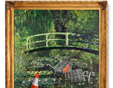Praca Banksy'ego sprzedana za 7,5 miliona funtów. To przeróbka...