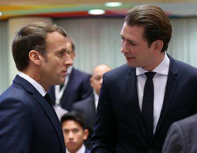 """Spięcie na unijnym szczycie, w rolach głównych Macron i Kurz. """"Widzicie?..."""