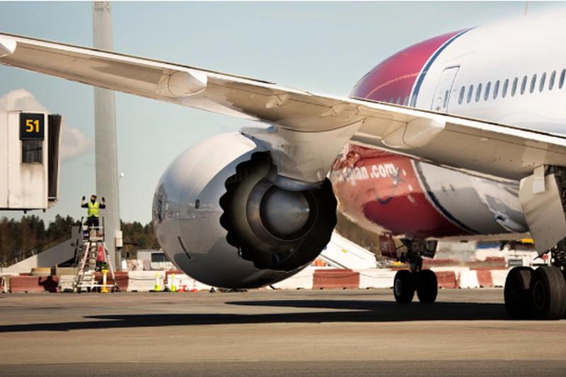 Silnik Boeinga 787 Dreamliner linii Norwegian