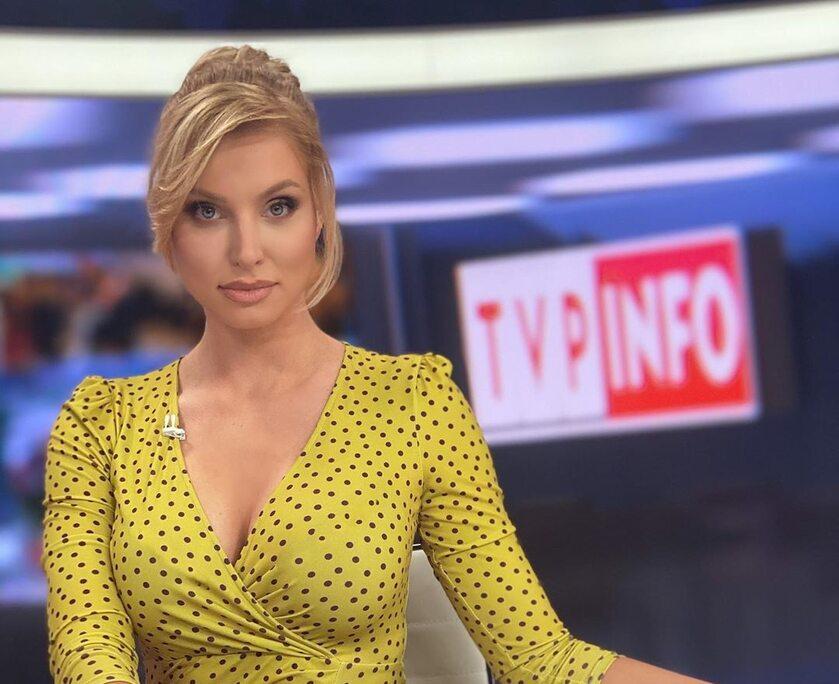 Karolina Pajączkowska na antenie TVP Info