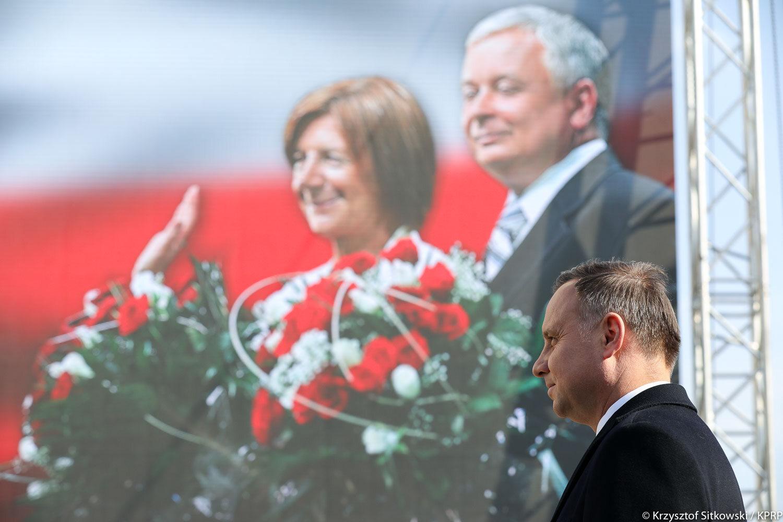 Prezydent Andrzej Duda na obchodach rocznicy katastrofy smoleńskiej