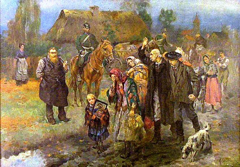 Rugi pruskie, Obraz Konstantego Górskiego z 1915 roku