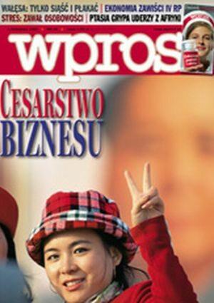 Okładka tygodnika Wprost nr 44/2005 (1196)