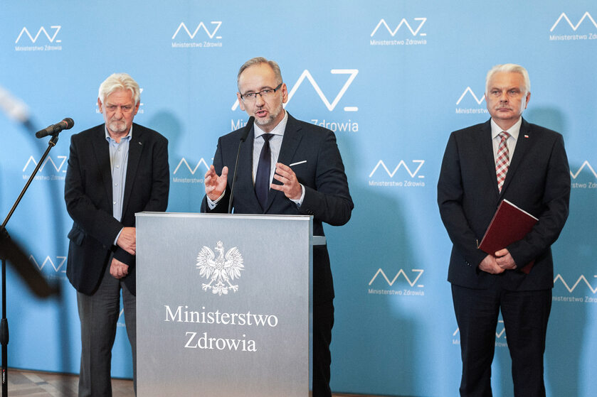 Konferencja ministra zdrowia, zdjęcie ilustracyjne