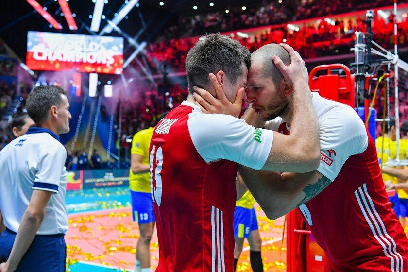 Michał Kubiak i Bartosz Kurek po ostatnim gwizdku