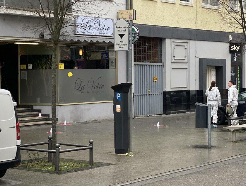 Miejsce strzelaniny w niemieckim Hanau