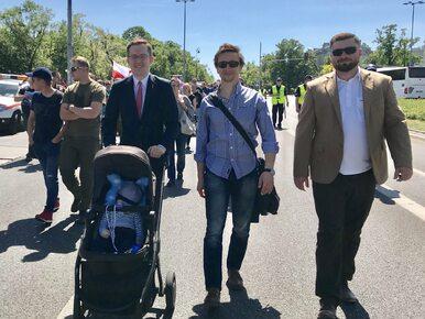 Dziecko prezesa Ruchu Narodowego wypadło z wózka podczas wywiadu