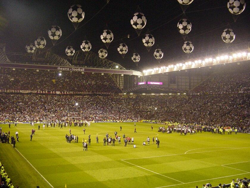 Finał Ligi Mistrzów rozgrywany na Old Trafford