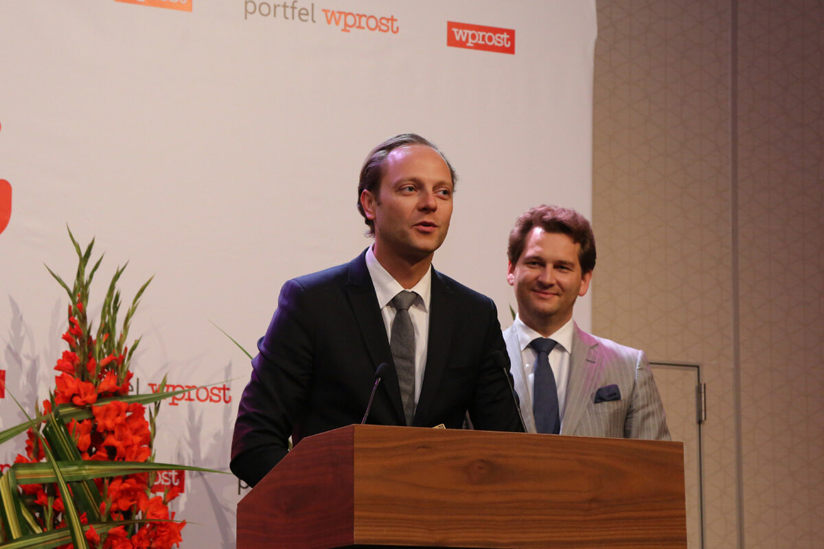 Prezes Zarządu Bank Pocztowy SA - Szymon Midera oraz Michał M. Lisiecki - Wydawca Wprost