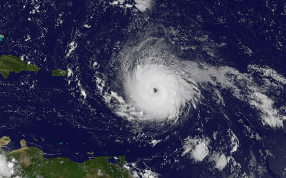 Huragan Irma na zdjęciach NASA