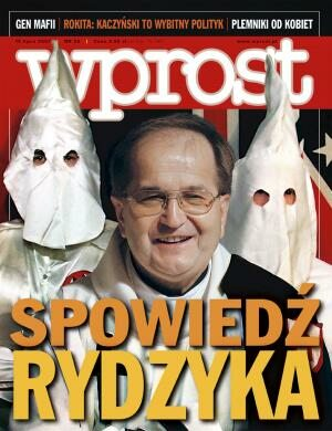 Okładka tygodnika Wprost nr 28/2007 (1281)