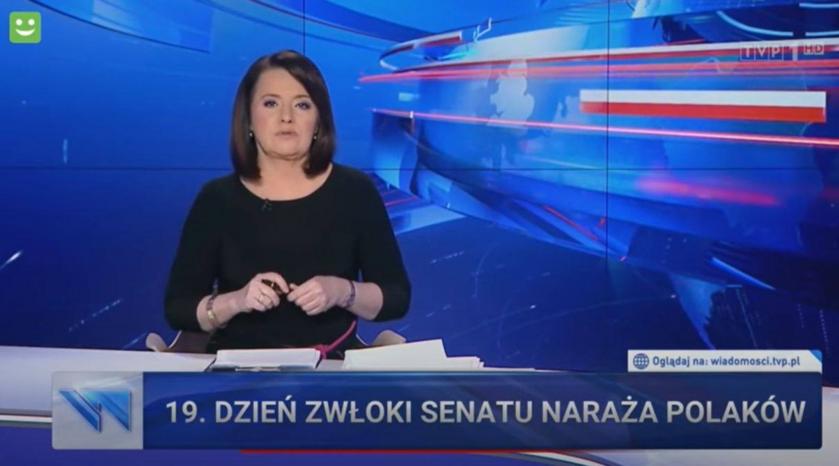 "Screen z ""Wiadomości"" TVP"