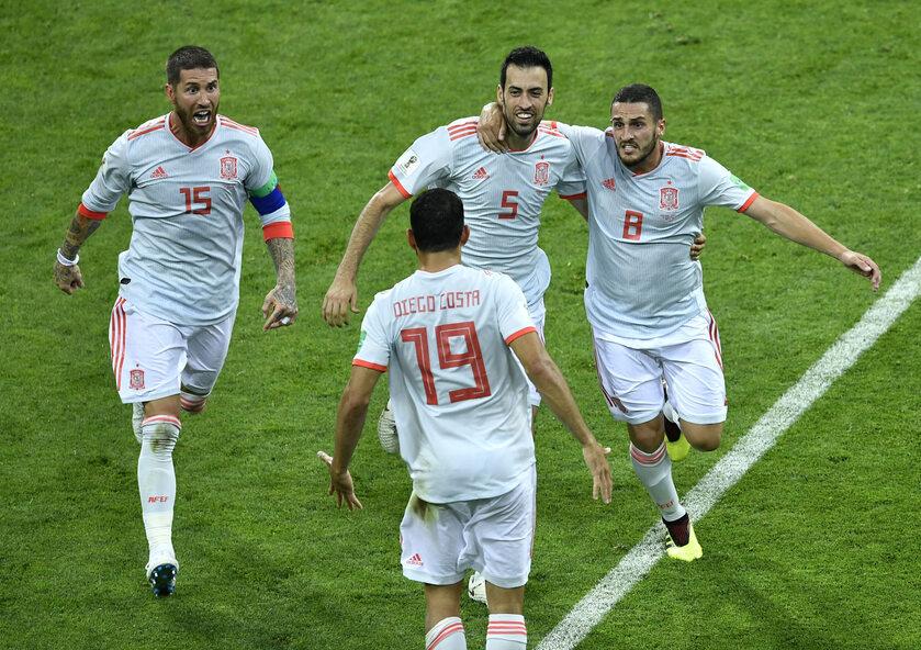 Zawodnicy reprezentacji Hiszpanii