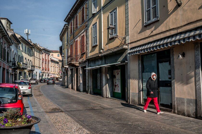 Codogno, jedno z odciętych miasteczek w Lombardii