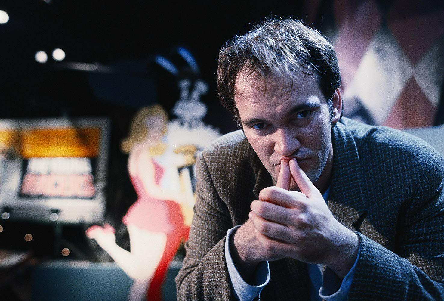 "Quentin Tarantino na planie filmu ""Pulp Fiction"""