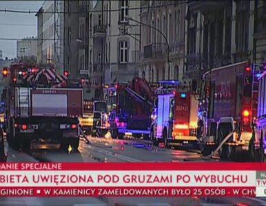 Służby szukają mieszkańców zawalonego budynku w Katowicach