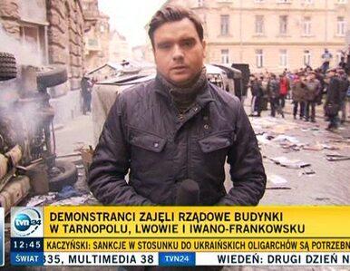 We Lwowie demonstranci spalili posterunek policji