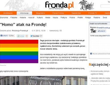 """Fronda.pl """"zaatakowana"""". """"Redaktor poparzył się kawą!"""""""