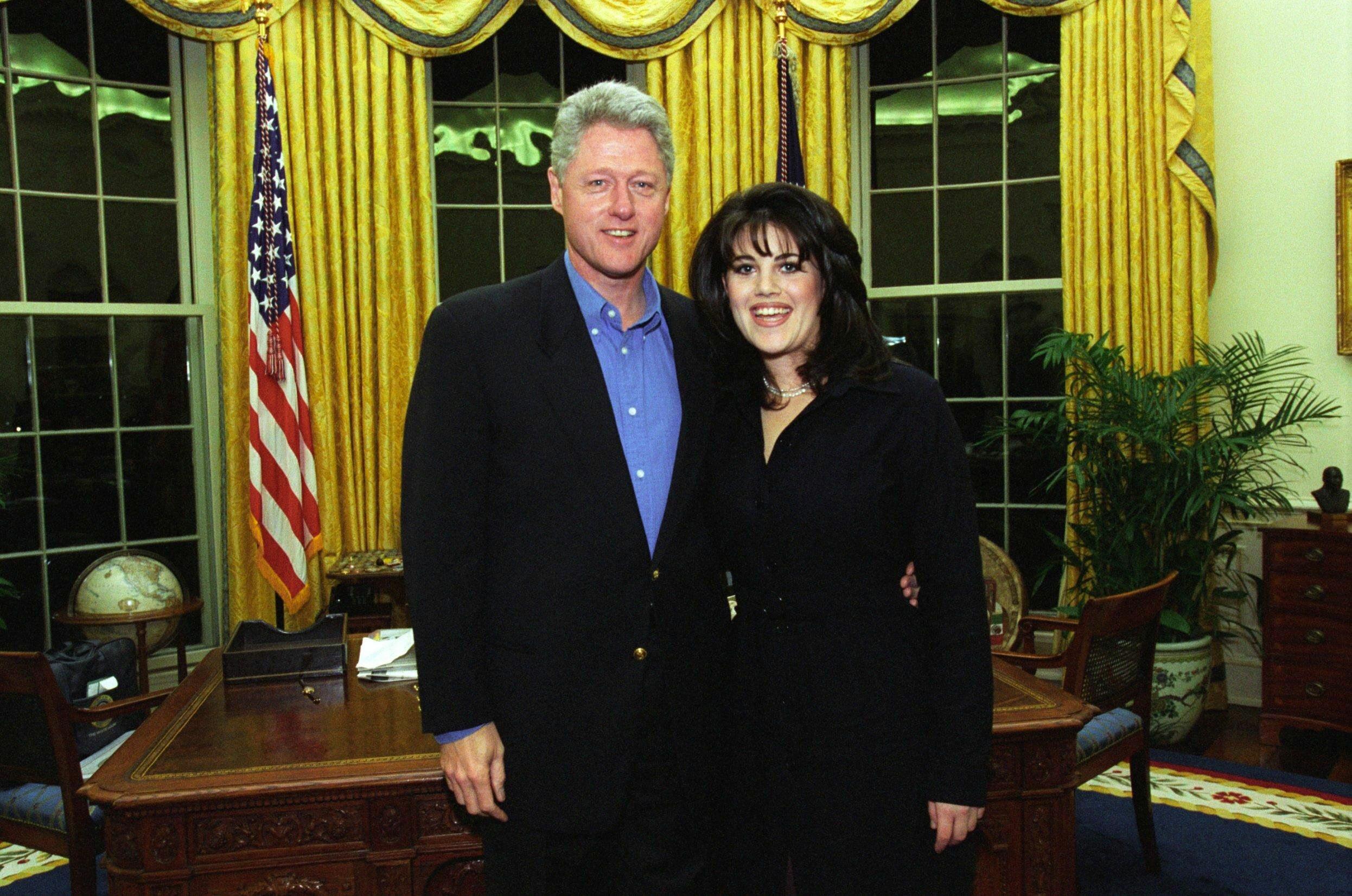 Clinton i Lewinsky, luty 1997 roku
