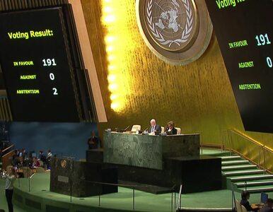 Brawa dla USA w Parlamencie Narodów. Pierwsze takie głosowanie od 25 lat