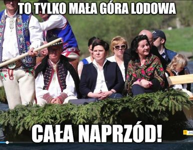 Memy na otwarcie sezonu flisackiego z Beatą Szydło