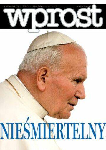 Okładka tygodnika Wprost nr 14/2005 (1166)