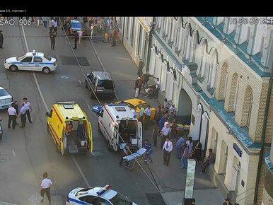 Moskwa. Taksówka wjechała w tłum w centrum miasta. Są ranni