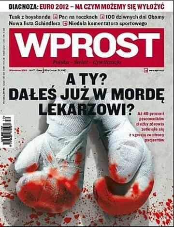 Okładka tygodnika Wprost nr 17/2009 (1372)