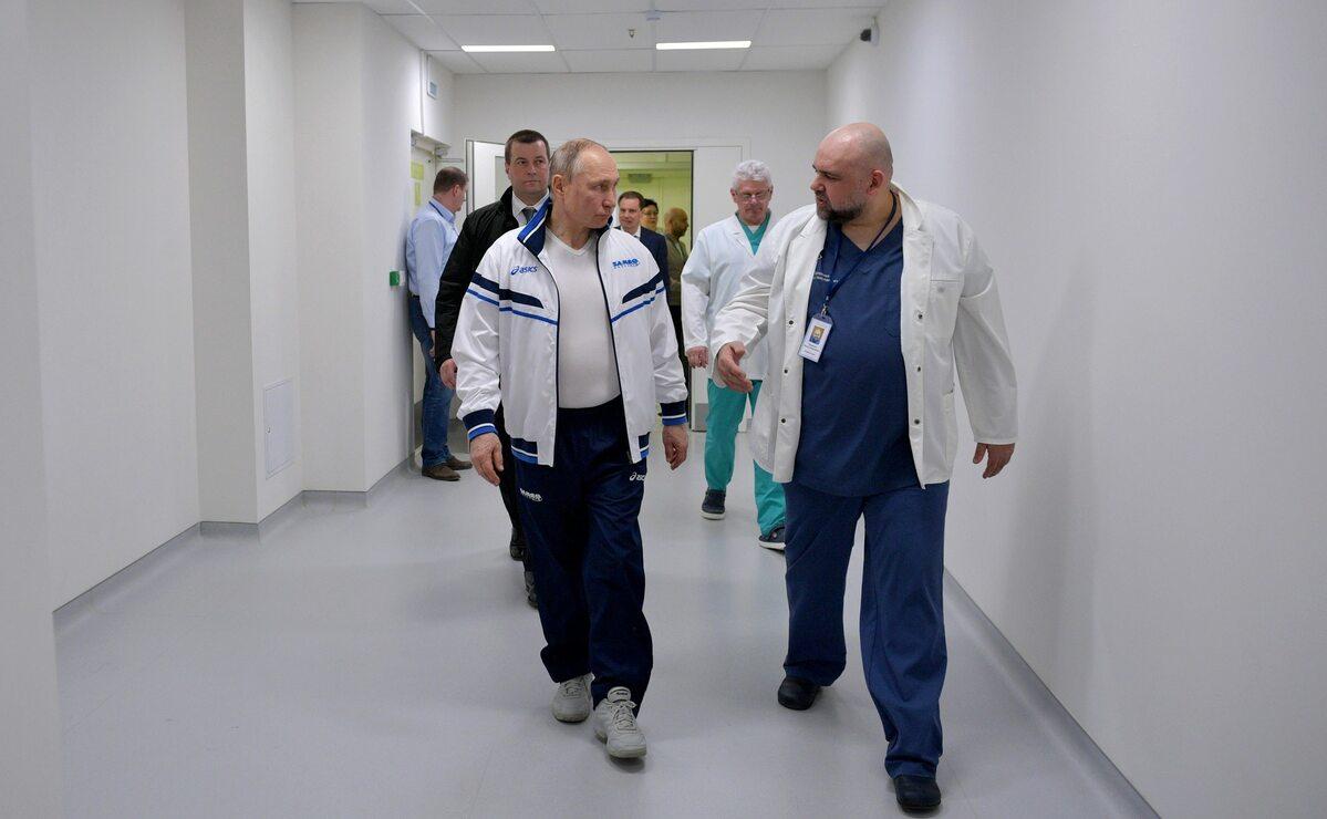 Władimir Putin i Denis Procenko