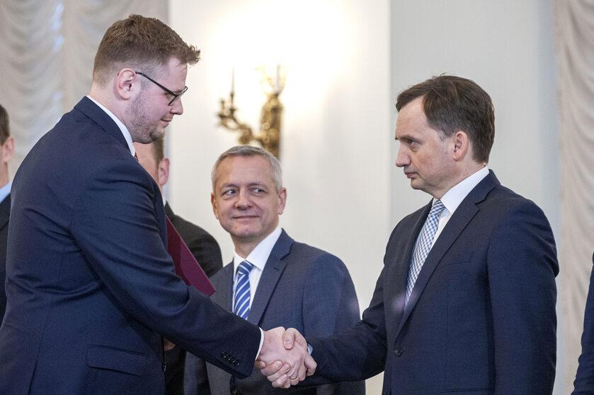 Michał Woś i Zbigniew Ziobro