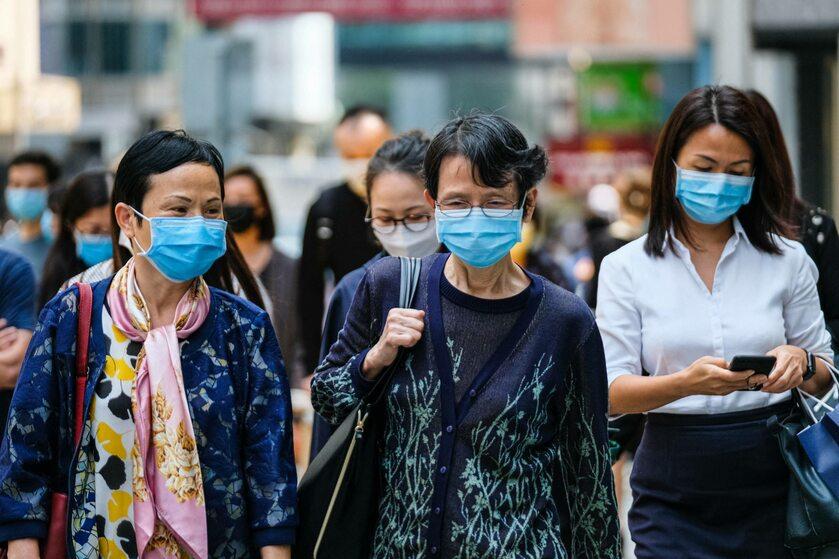 Kobiety na ulicy w Hongkongu