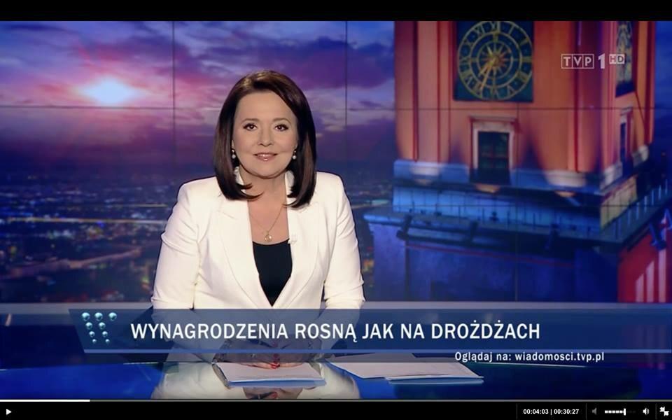 """Paski informacyjne z """"Wiadomości"""" TVP"""