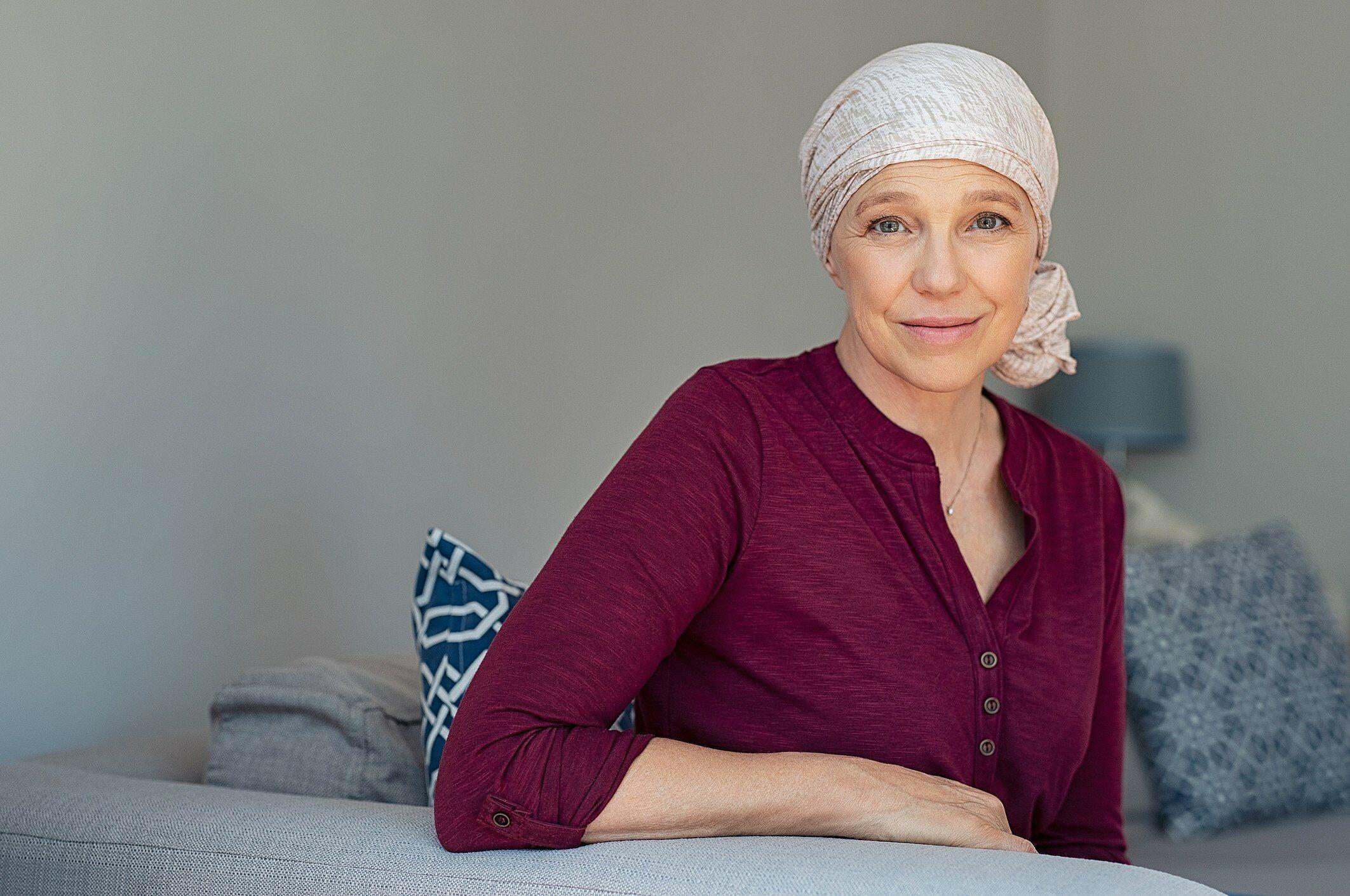 Kobieta w trakcie leczenia onkologicznego