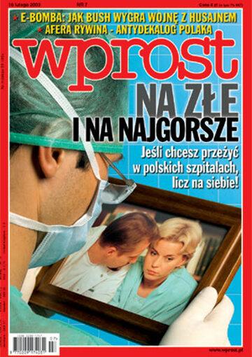 Okładka tygodnika Wprost nr 7/2003 (1055)