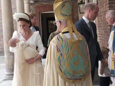 Chrzciny księcia Louisa bez królowej Elżbiety II. Pałac Kensington...