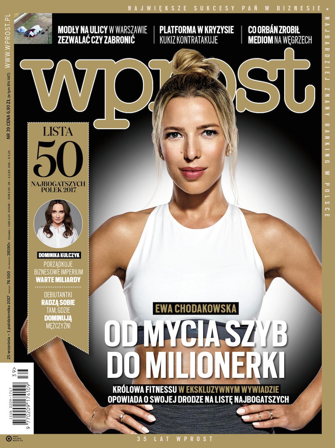 Okładka tygodnika Wprost nr 39/2017 (1804)