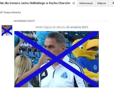 Kibice Ruchu zwalniają trenera. Na Facebooku