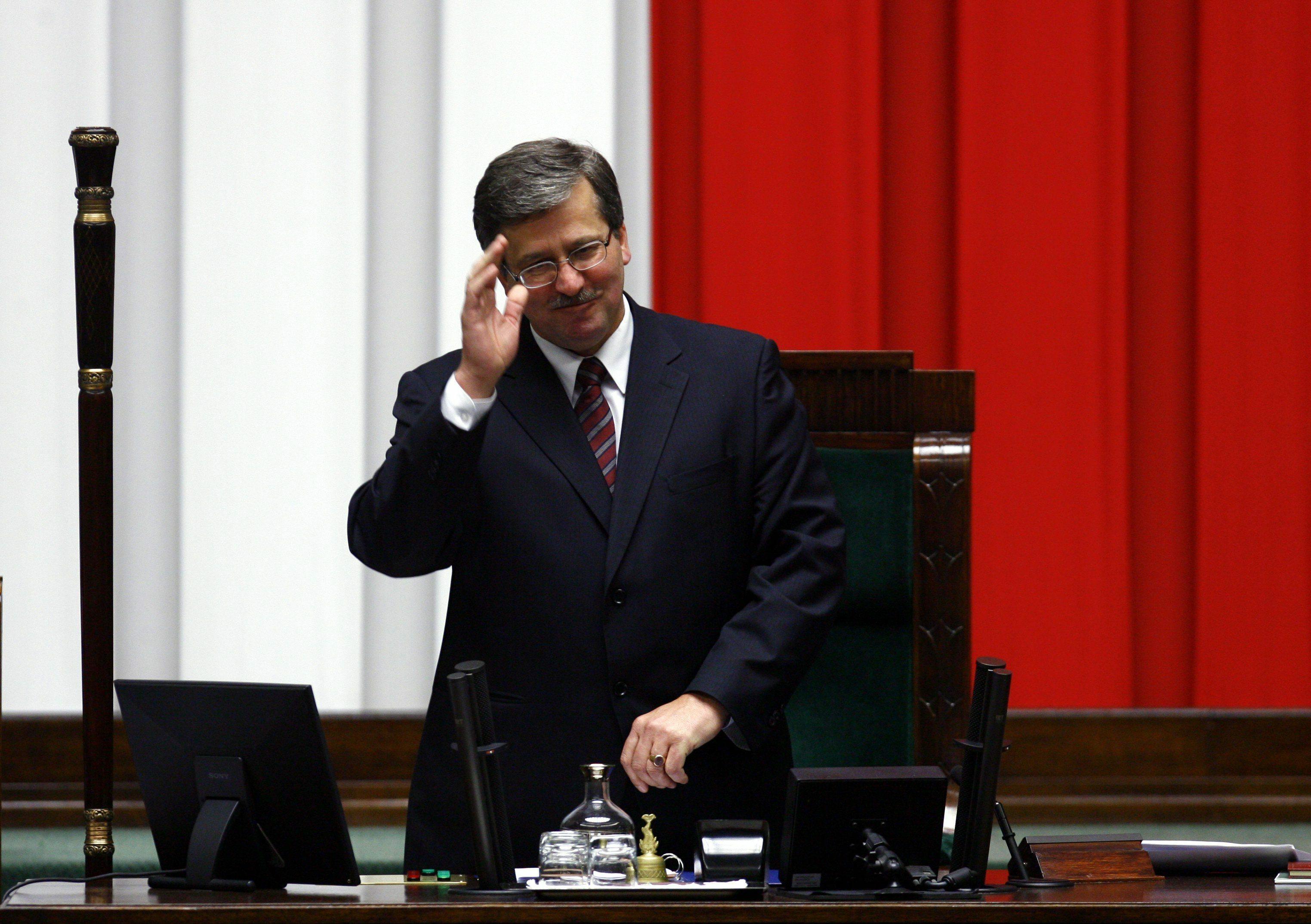 Bronisław Komorowski w 2007 roku na pierwszym posiedzeniu nowego Sejmu